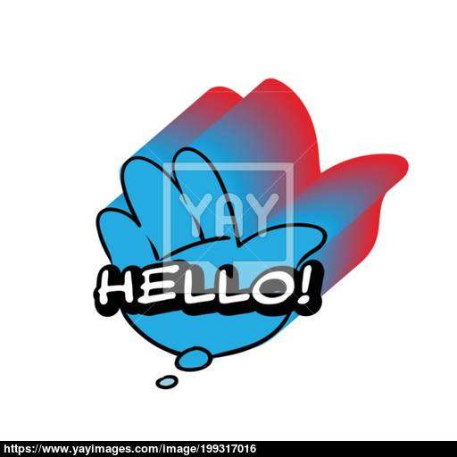 Vector Hello Speech Bubble Colorful Emotional Icon Isolated