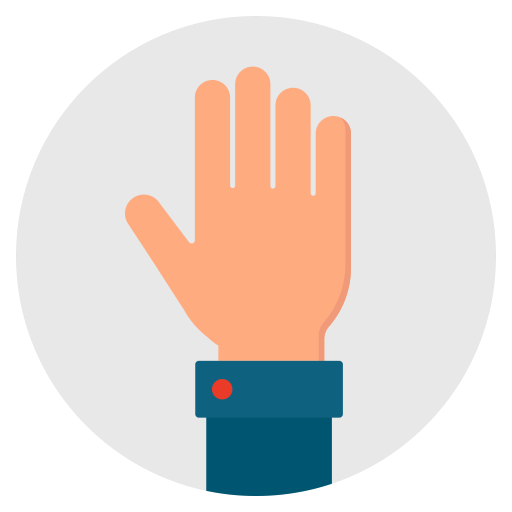Hello, Open, Hand, Hi, Give, Palm Icon