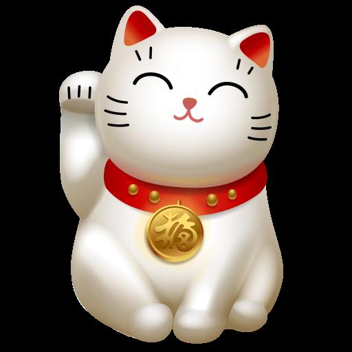 Cat, Hello, Kitty, Maneki Neko Icon