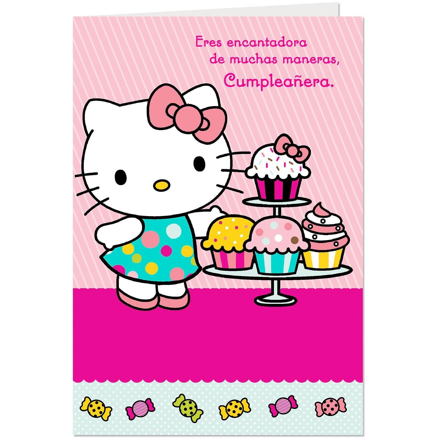 Hello Cupcakes Birthday Card For Niece
