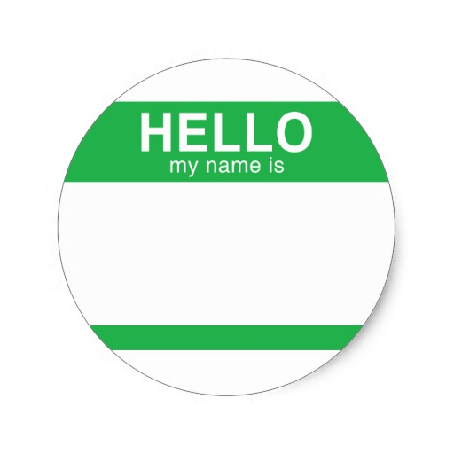 Hello My Name Is Green Round Stickers On Popscreen