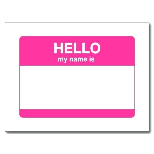 Hello My Name Is Png Images In Collection