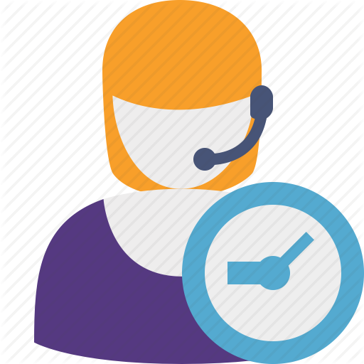 Clock, Help, Service, Support Icon