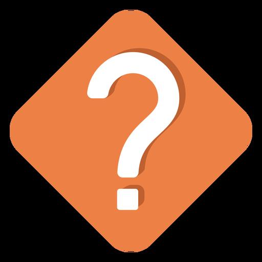 Orange Square Question Mark Icon