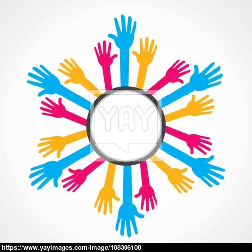 Helping Hand Background Or Friendship Day Vector