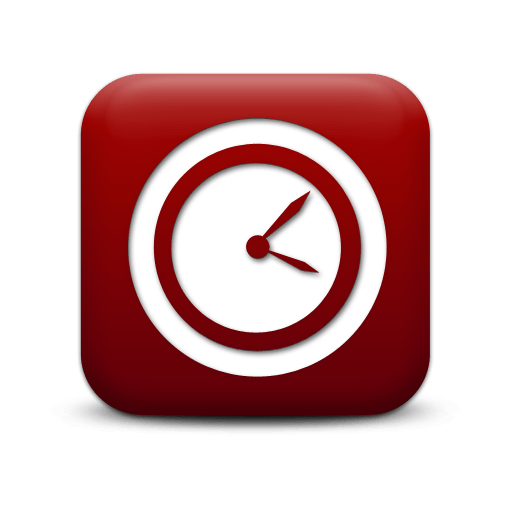 Simple Red Square Icon Business