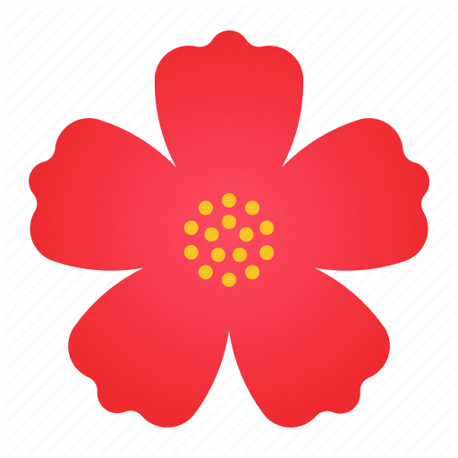 Bloom, Flower, Hibiscus, Red Icon