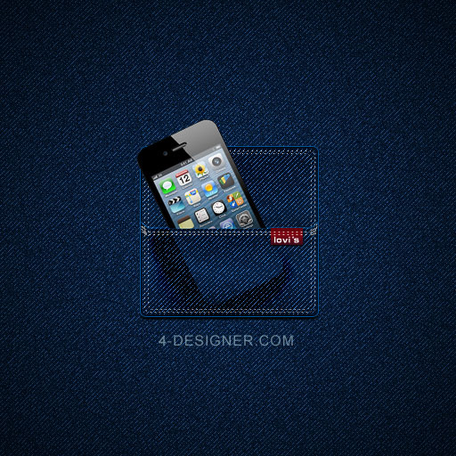 Designer The Tutorial Of Making The Icon Of Jeans Effect