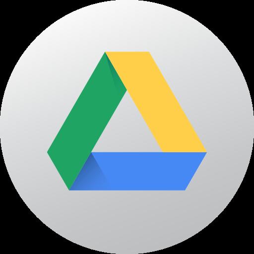 Circle, Google Drive, Gradient, High Quality, Media, Social