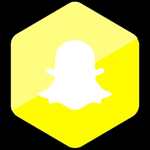 Colored, Hexagon, High Quality, Media, Snapchat, Social, Social