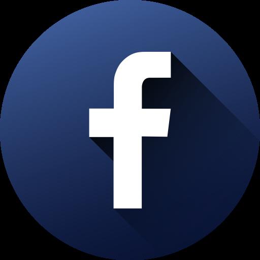 Circle, Facebook, High Quality, Long Shadow, Media, Social, Social