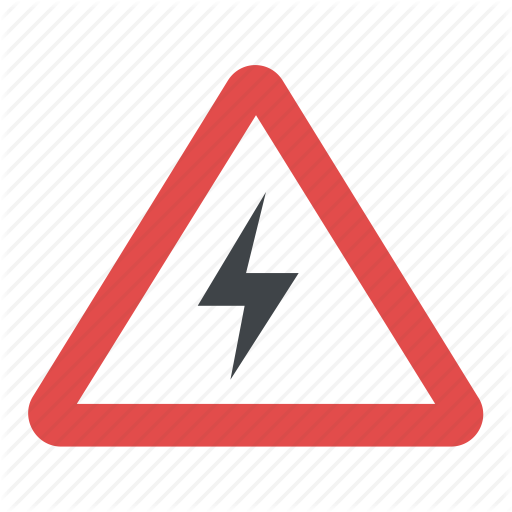 Hazard Alert Symbol, High Voltage Symbol, Risk Of Electric Shock