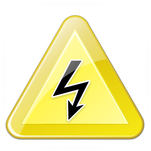 Iconexperience V Collection Sign Warning Voltage Icon