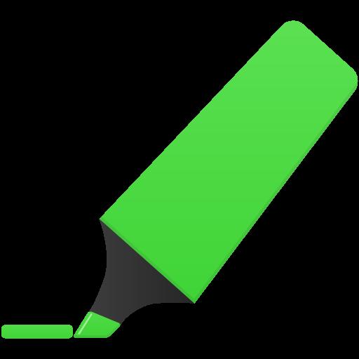 Highlightmarker Green Icon Flatastic Iconset Custom Icon Design