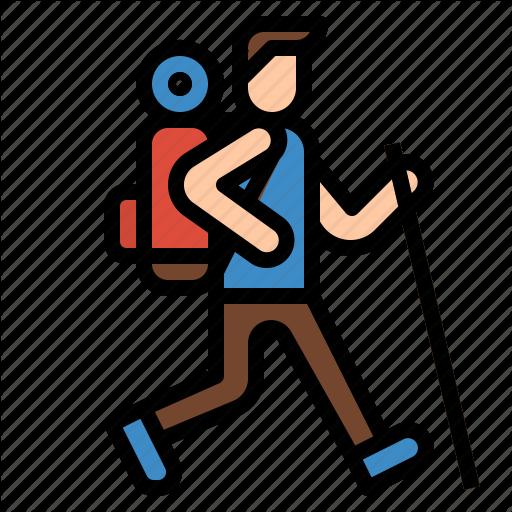 Hiking, Sport, Trekking, Walking Icon
