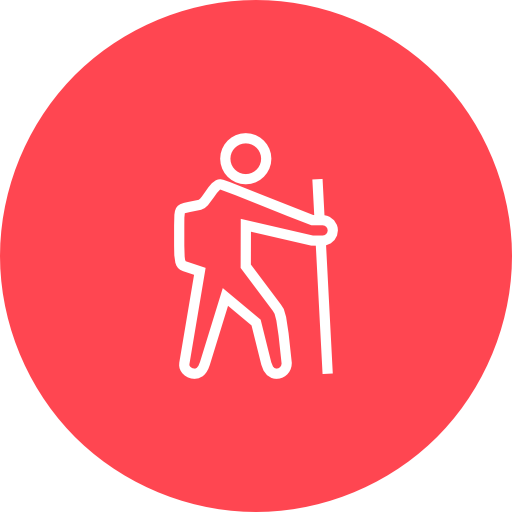 Red, Hiking Icon Free Of Hotel And Spa Icons