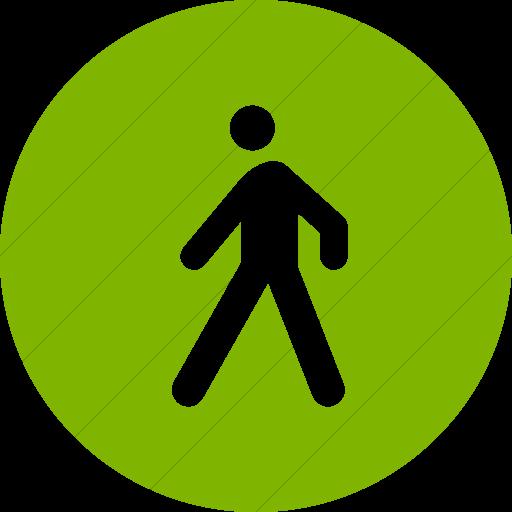 Simple Green Iconathon Walking Path Icon