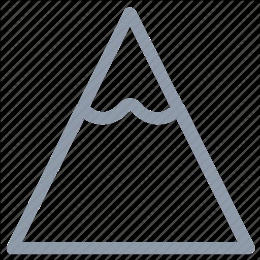 Hill, Mountain, Nature, Snowy Mountain, Triangle Shape Icon