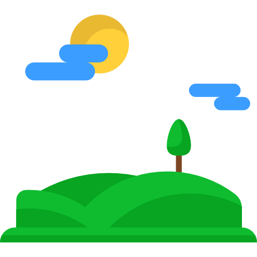 Hills, Mountain, Nature, Hill, Mount, Sunny Icon