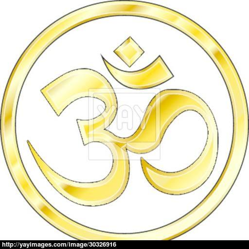 Gold Hindu Om Icon Vector