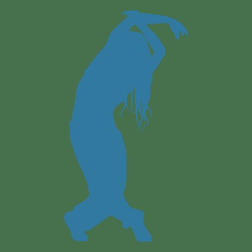 Hip Hop Dancer Woman Bending Silhouette