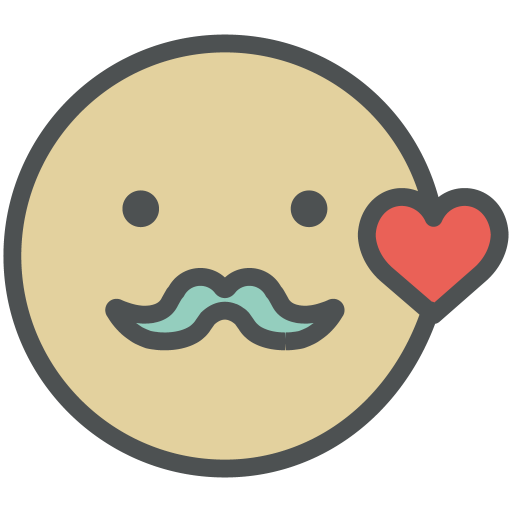 Hipster, Smiley Icon Free Of Flat Line Valentine Icons