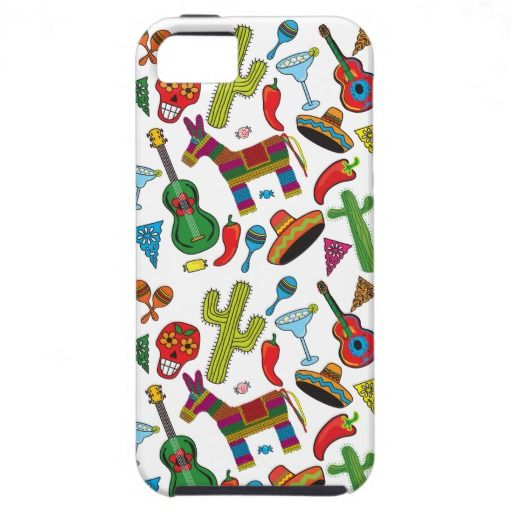 Mexican Fiesta Party Icons Iphone Cover Cositas Mexican