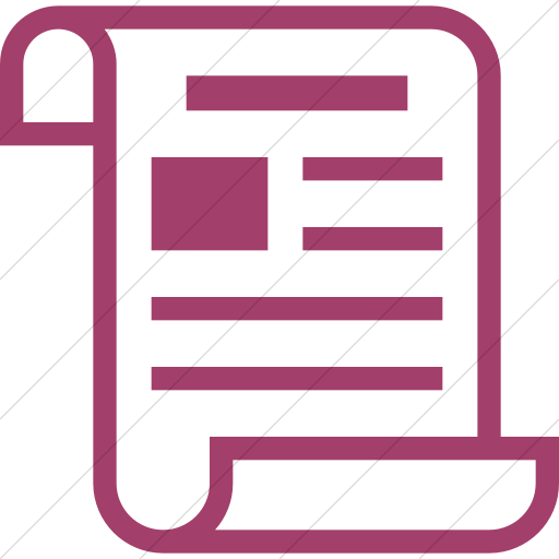 Simple Pink Iconathon Historical Newspaper Icon