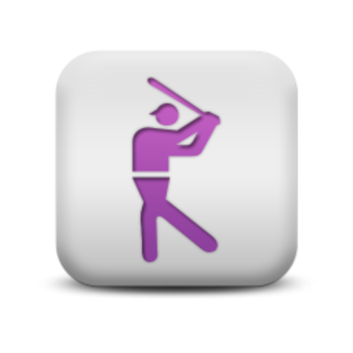 Cropped Matte Purple And White Square Icon Sports Hobbies