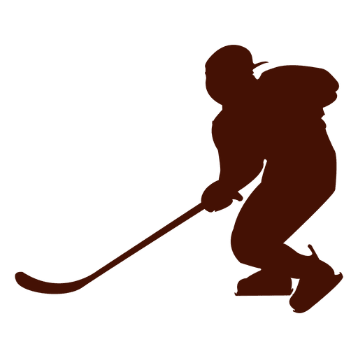 Hockey Ice Player Silhouette