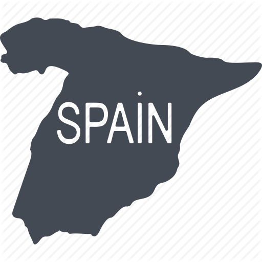 Iberia, Map, Mediterranean, Spain, The Country, Tourism Icon