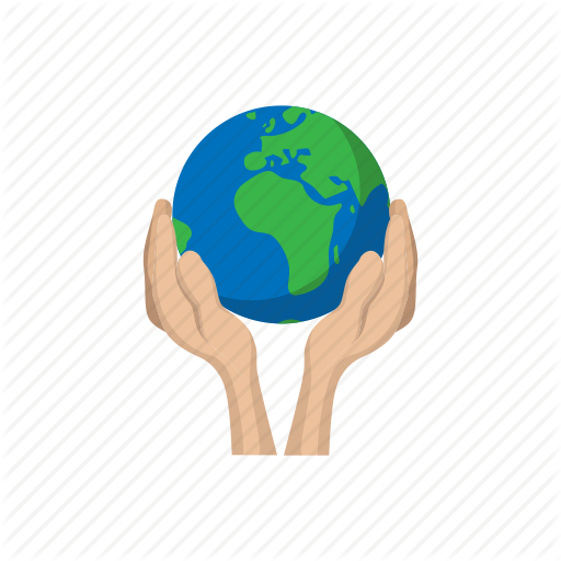 Cartoon, Earth, Globe, Hands, Holding, Planet, World Icon