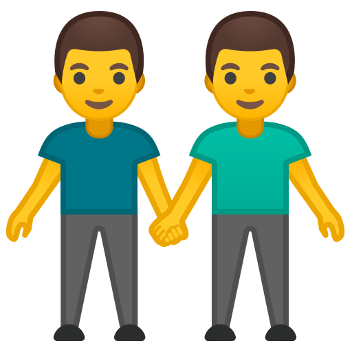 Two Men Holding Hands Icon Noto Emoji People Family Love