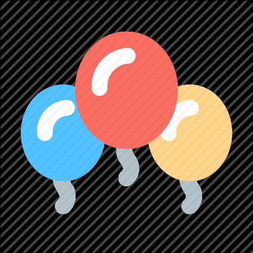 Baloons, Birthday, Holiday Icon