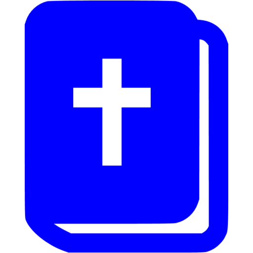 Blue Holy Bible Icon