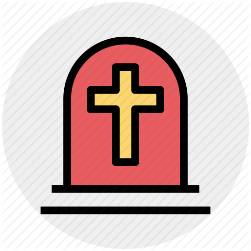 Grave, Gravestone, Graveyard, Holy Cross, Tombstone Icon