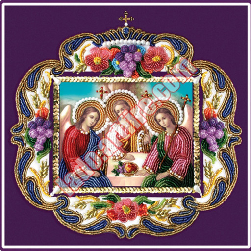 The Holy Trinity Beaded Embroidery Diy Kit Orthodox Icon Lado