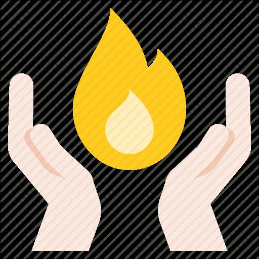 Christ, Fire, Hand, Holy Spirit Icon