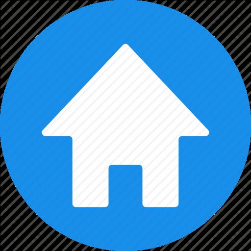 Address, Blue, Casa, Circle, Home, House, Local Icon
