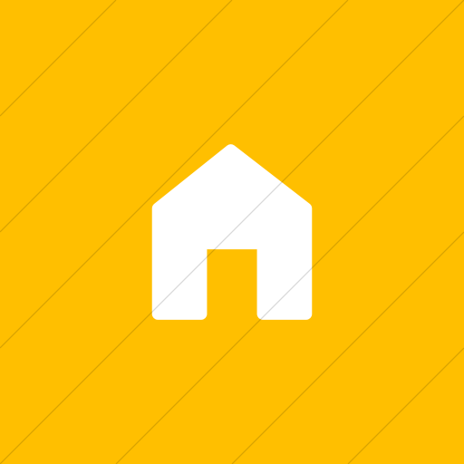 Flat Square White On Yellow Foundation Home Icon
