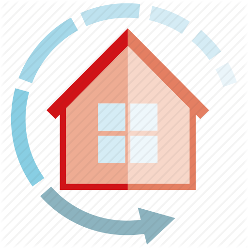Arrow, Home, Home Automation, House, Smart Home Icon