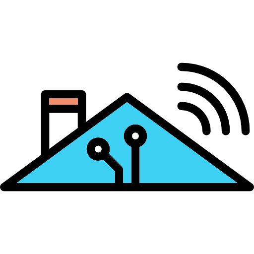 Smart Home, Technological, Roof, Buildings, Home Automation Icon