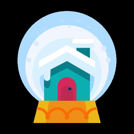 Snowglobe, Decoration, Cabin, Home, House, Decorate Icon