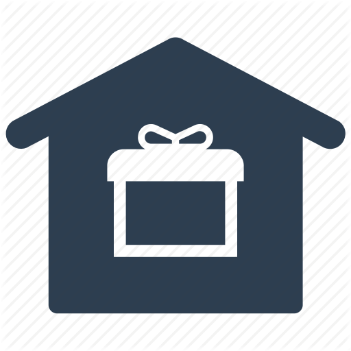Gift, Home Delivery, Package, Property, Real Estate Icon
