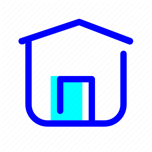 Blue, Estate, Home, House Icon