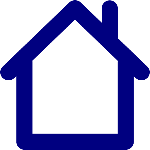 Navy Blue Home Icon