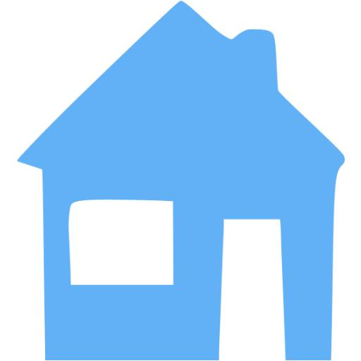 Tropical Blue Home Icon