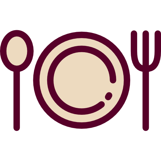 Fork, Plate, Restaurant, Dish, Spoon, Food And Restaurant Icon