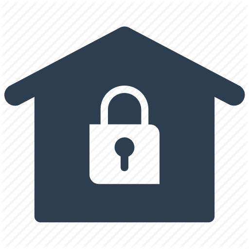 Home, Home Security, House, Insurance, Lock Icon