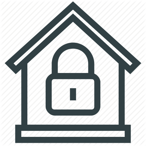 Home, Lock, Protection, Security Icon